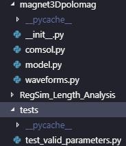 Lista de diretórios de um projeto usando pytest